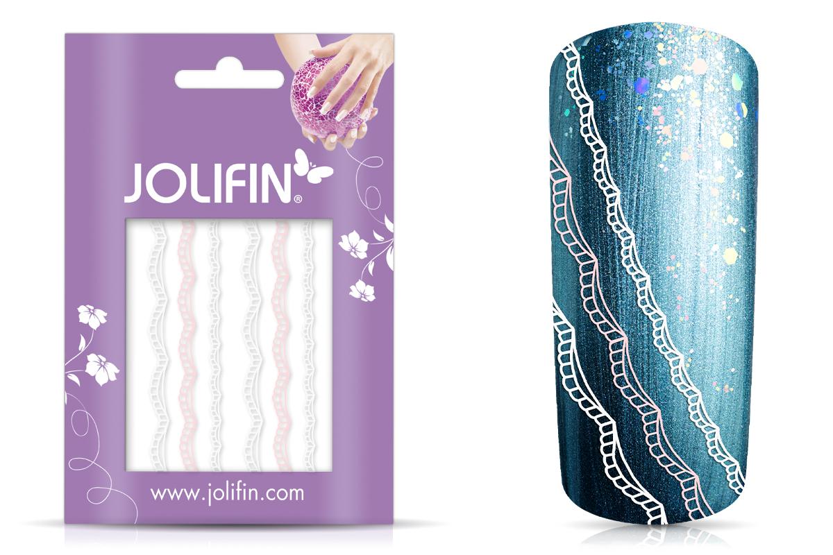 Jolifin Lace Sticker - Pink-White 1