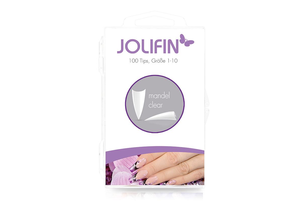 Jolifin 100er Tipbox Mandel clear