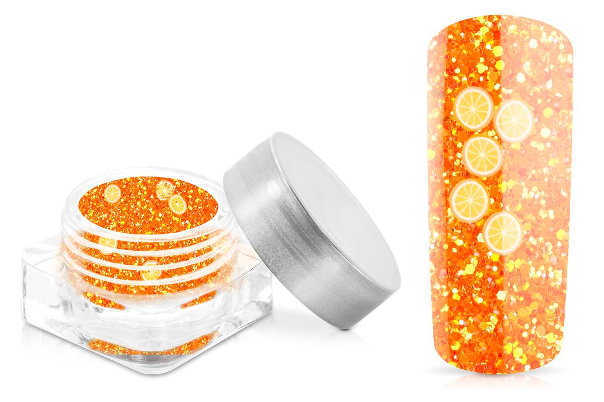 Jolifin Glitter Fruit - orange mandarin