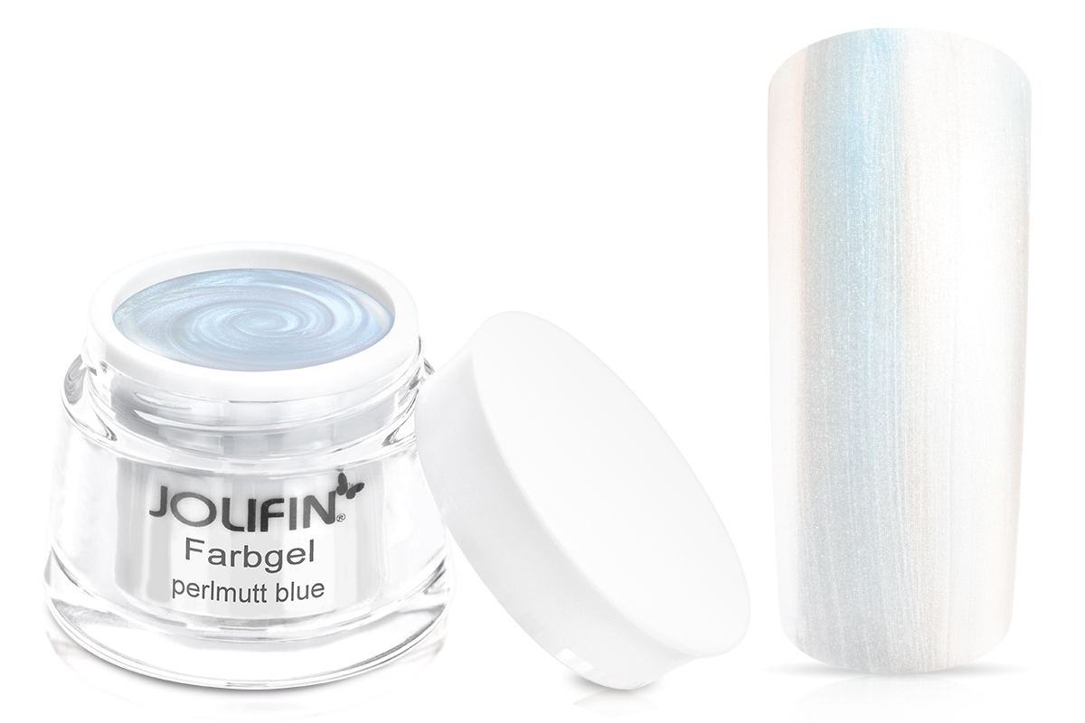 Jolifin Farbgel Perlmutt blue 5ml