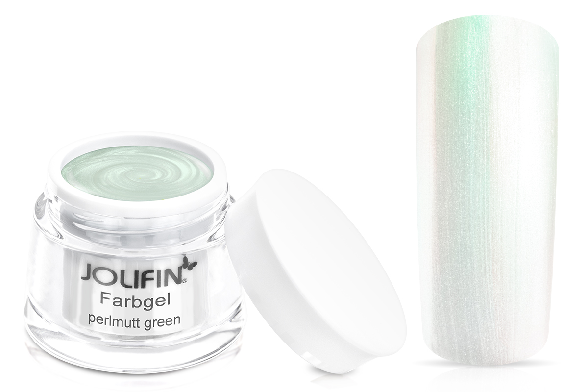 Jolifin Farbgel Perlmutt green 5ml