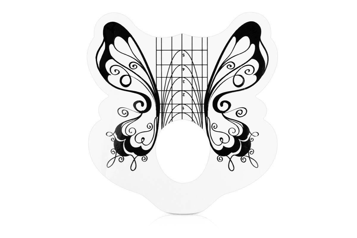 Jolifin Schmetterling Schablone Mandelform 100er - Pretty Nail Shop 24