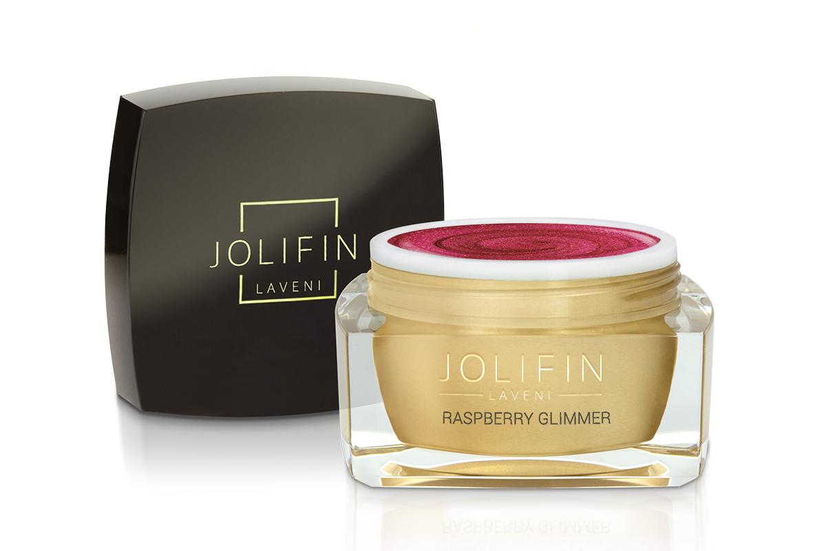 Jolifin LAVENI Farbgel - raspberry Glimmer 5ml