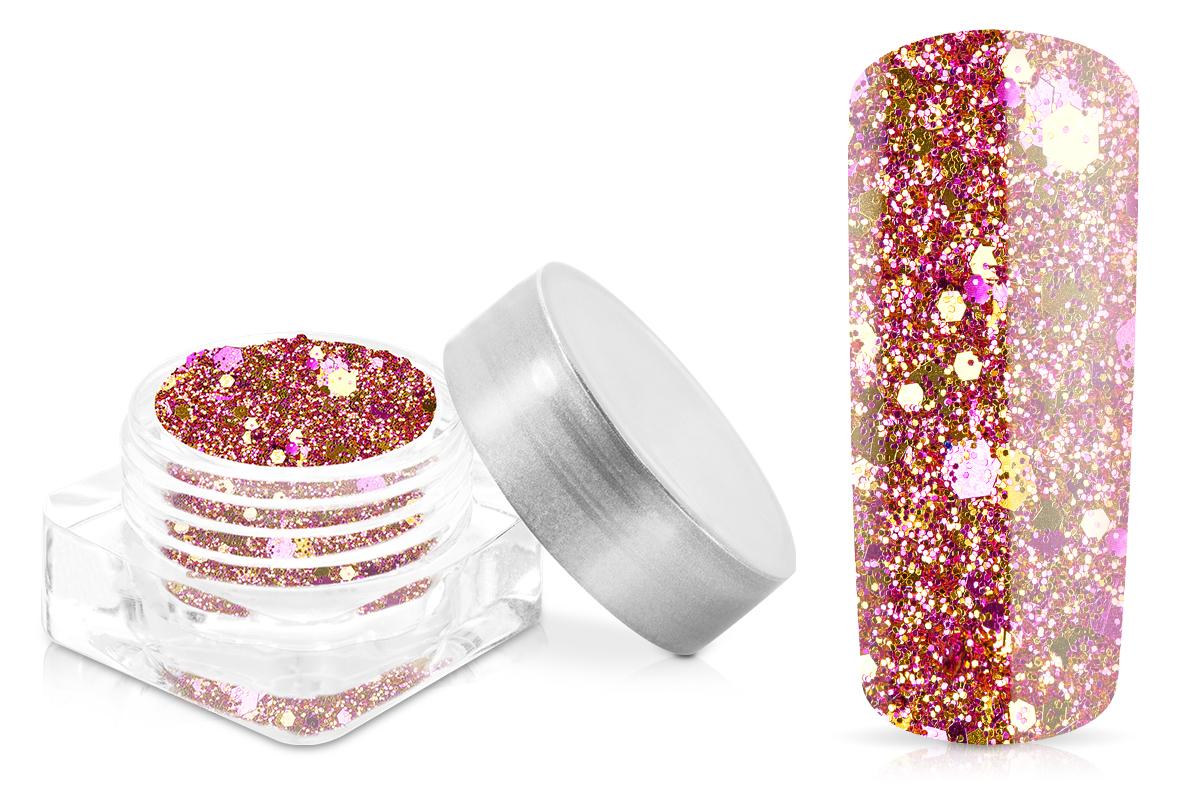 Jolifin Hexagon Glittermix pink-gold