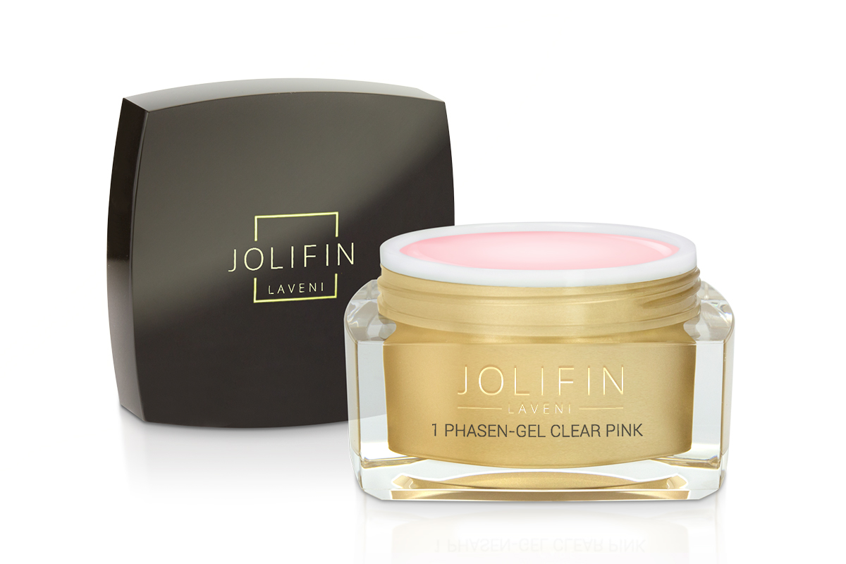 1 Phasen-Gel clear pink standfest 30ml - Jolifin LAVENI