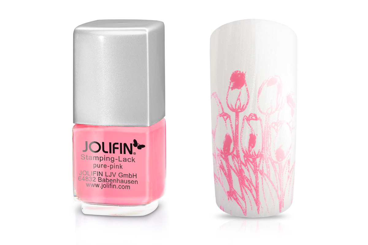 Jolifin Stamping-Lack - pure-pink 12ml