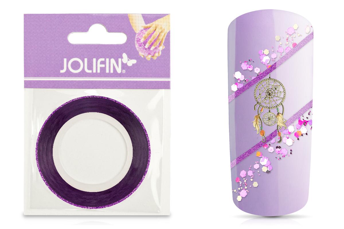 Jolifin Glitter Pinstripes lila 1mm