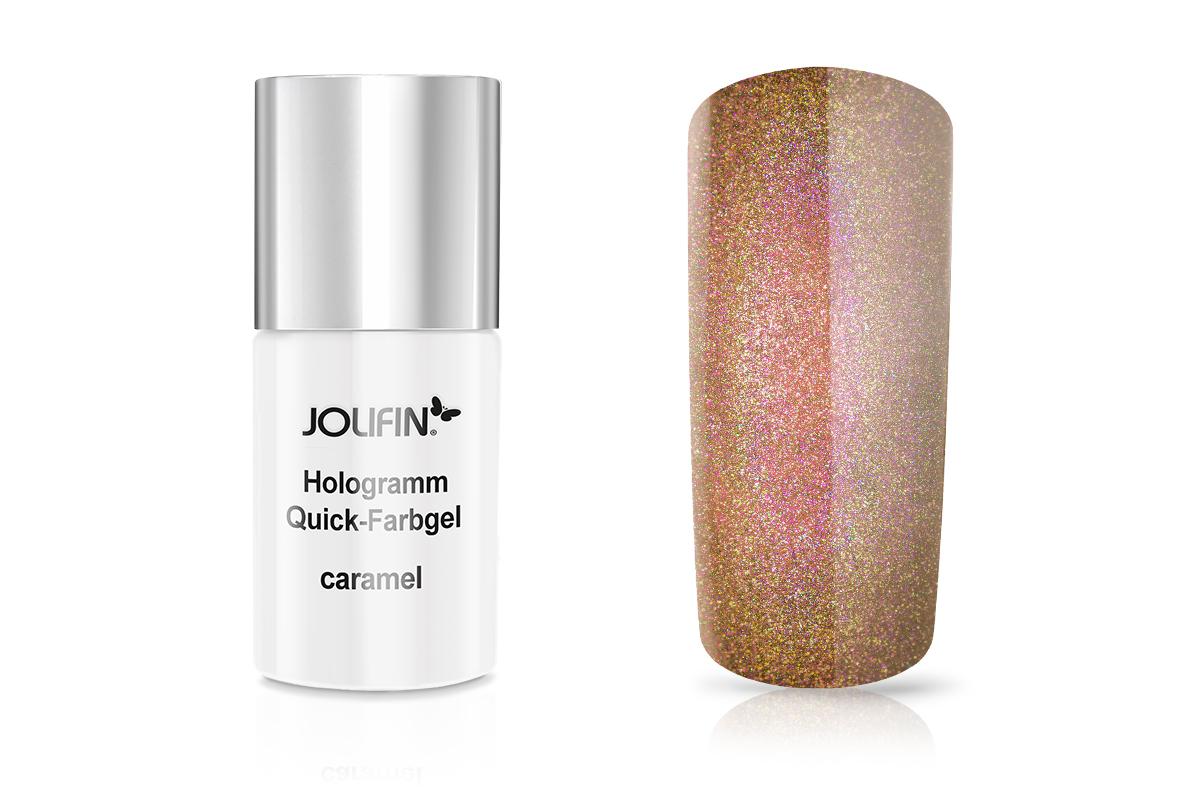 Jolifin Carbon Hologramm Quick-Farbgel caramel 11ml - B-Ware