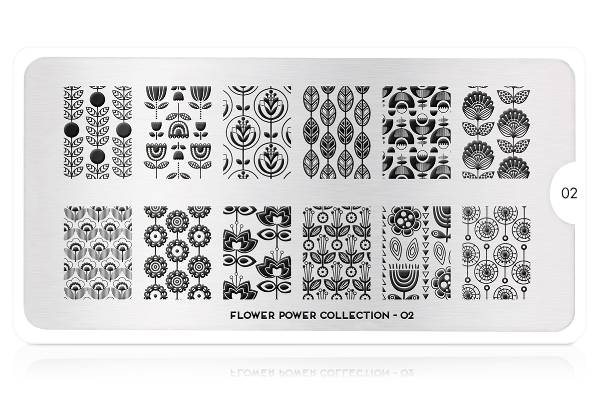 MoYou-London Schablone Flower Power Collection 02