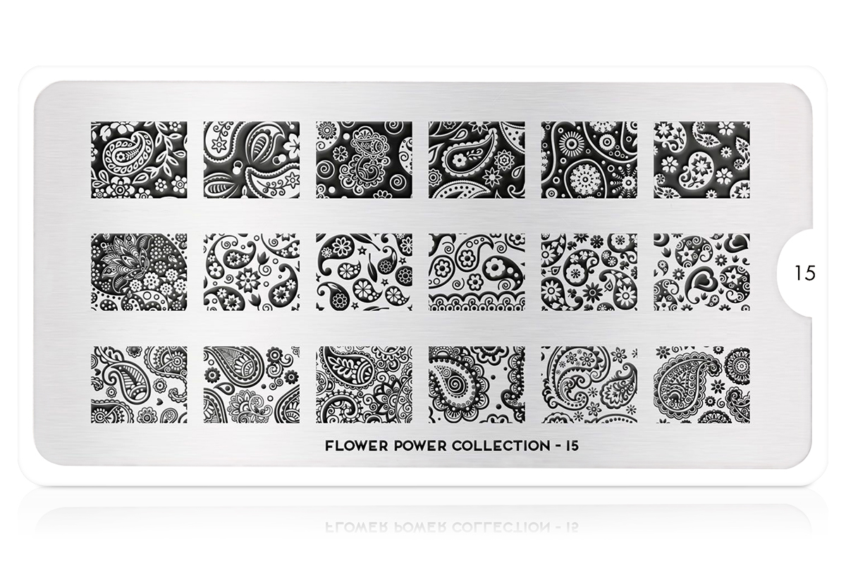 MoYou-London Schablone Flower Power Collection 15