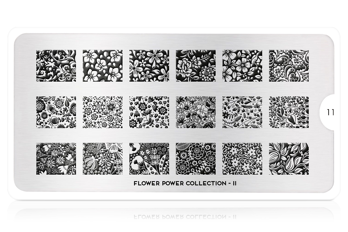 MoYou-London Schablone Flower Power Collection 11
