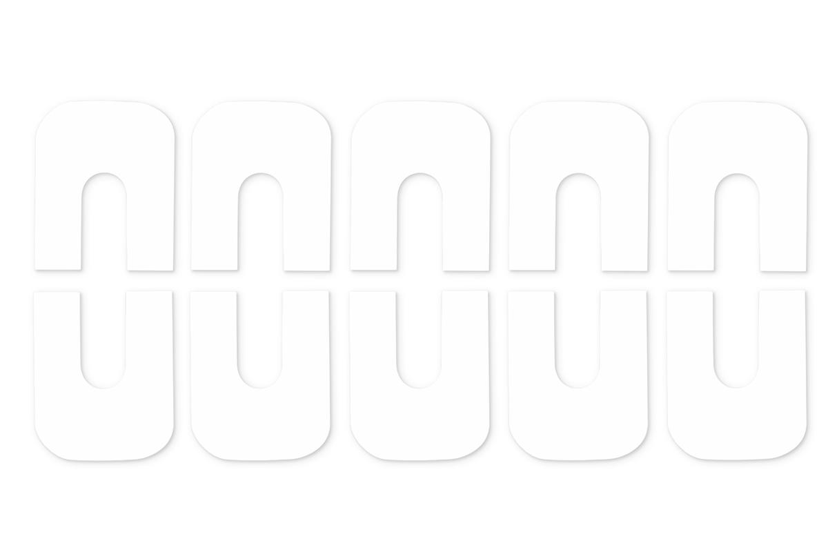 Jolifin Skin-Cover Sticker - weiß