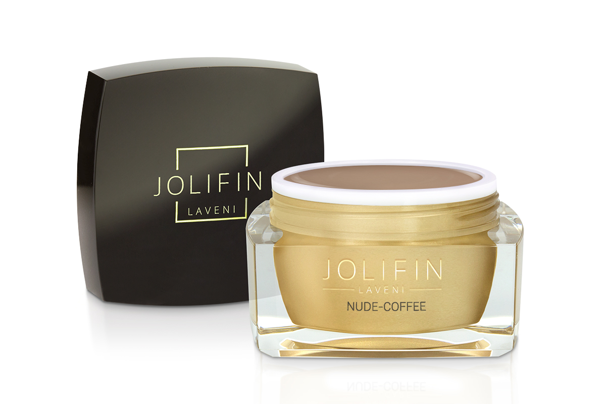 Jolifin LAVENI  Farbgel - nude-coffee 5ml
