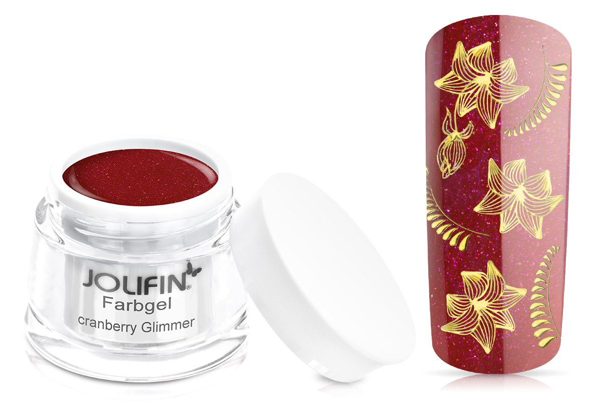 Jolifin Farbgel cranberry Glimmer 5ml