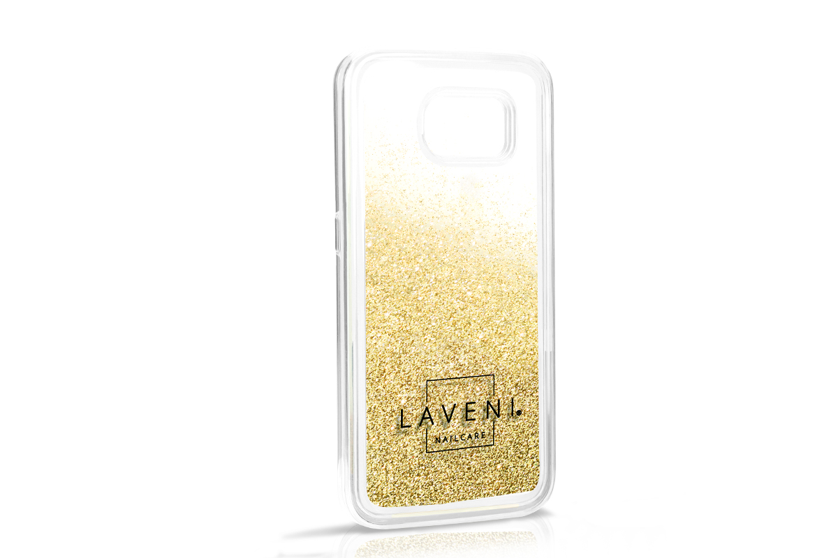 Jolifin LAVENI Glitter-Handyhülle für Samsung Galaxy S6