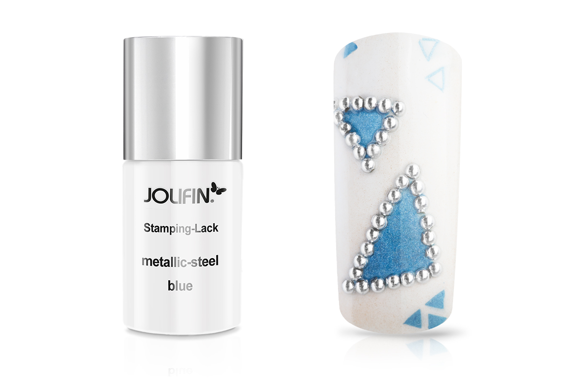Jolifin Stamping-Lack metallic-steel blue 11ml