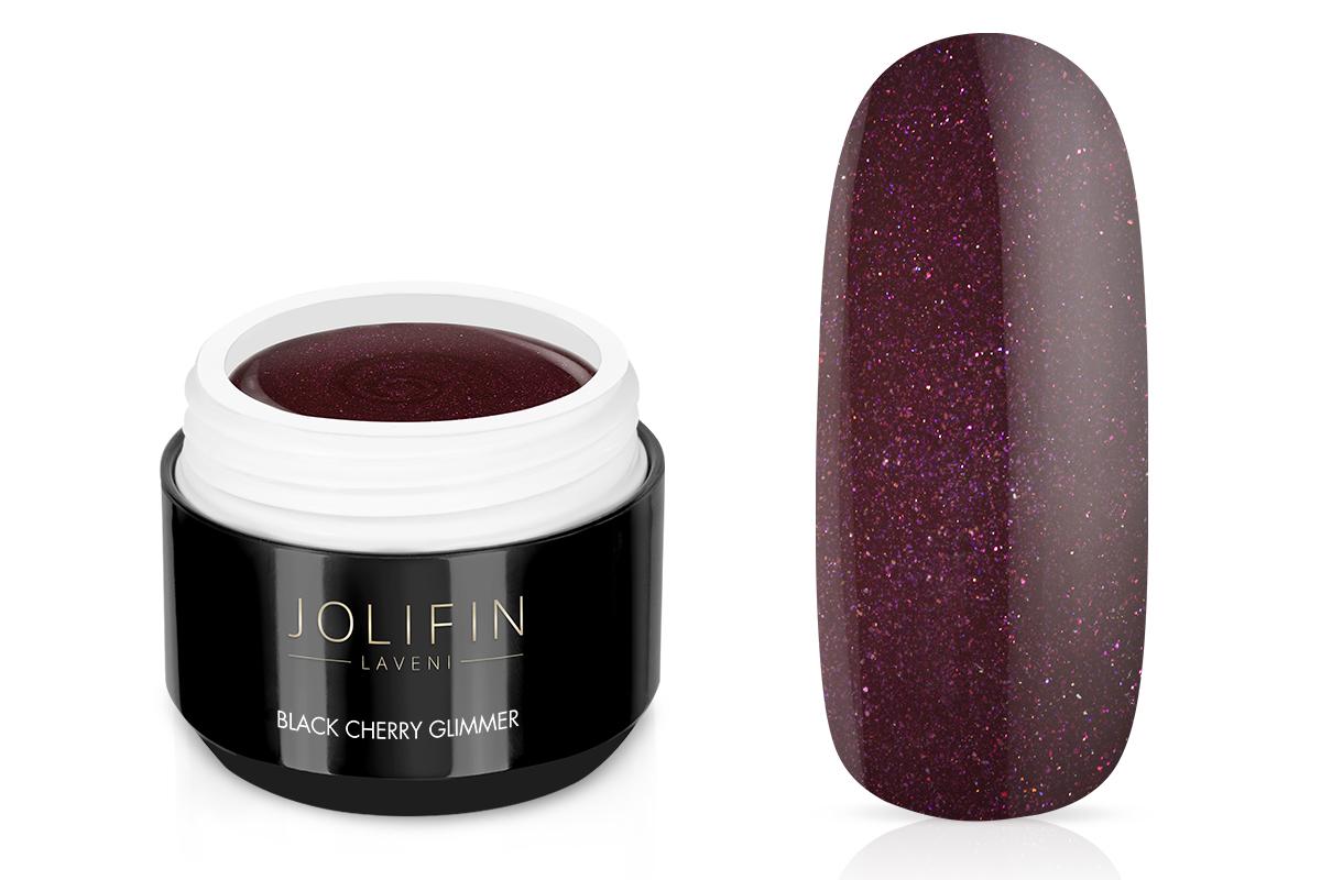 Jolifin LAVENI Farbgel - black cherry Glimmer 5ml