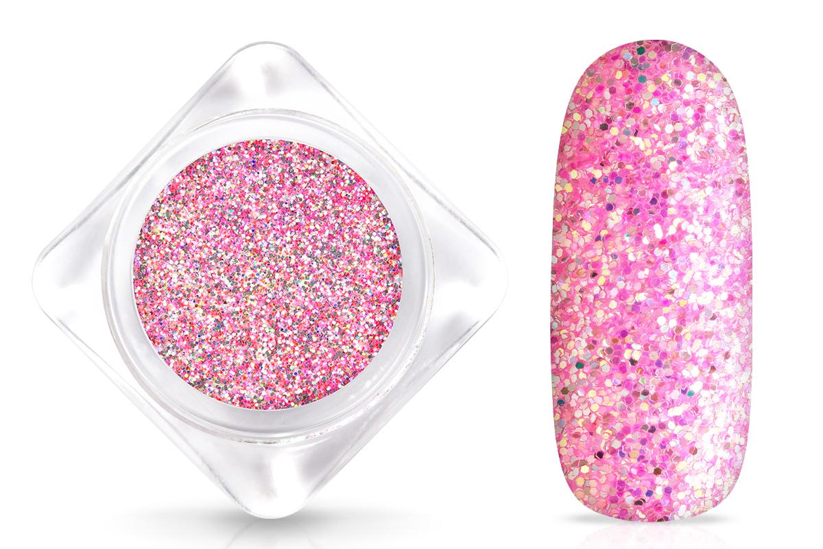 Jolifin Glitterpuder - hologramm pink