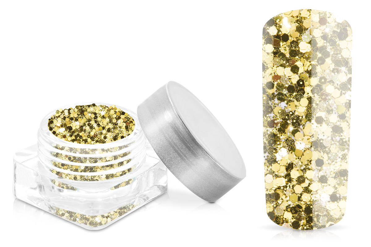 Jolifin Illusion Glitter shiny gold