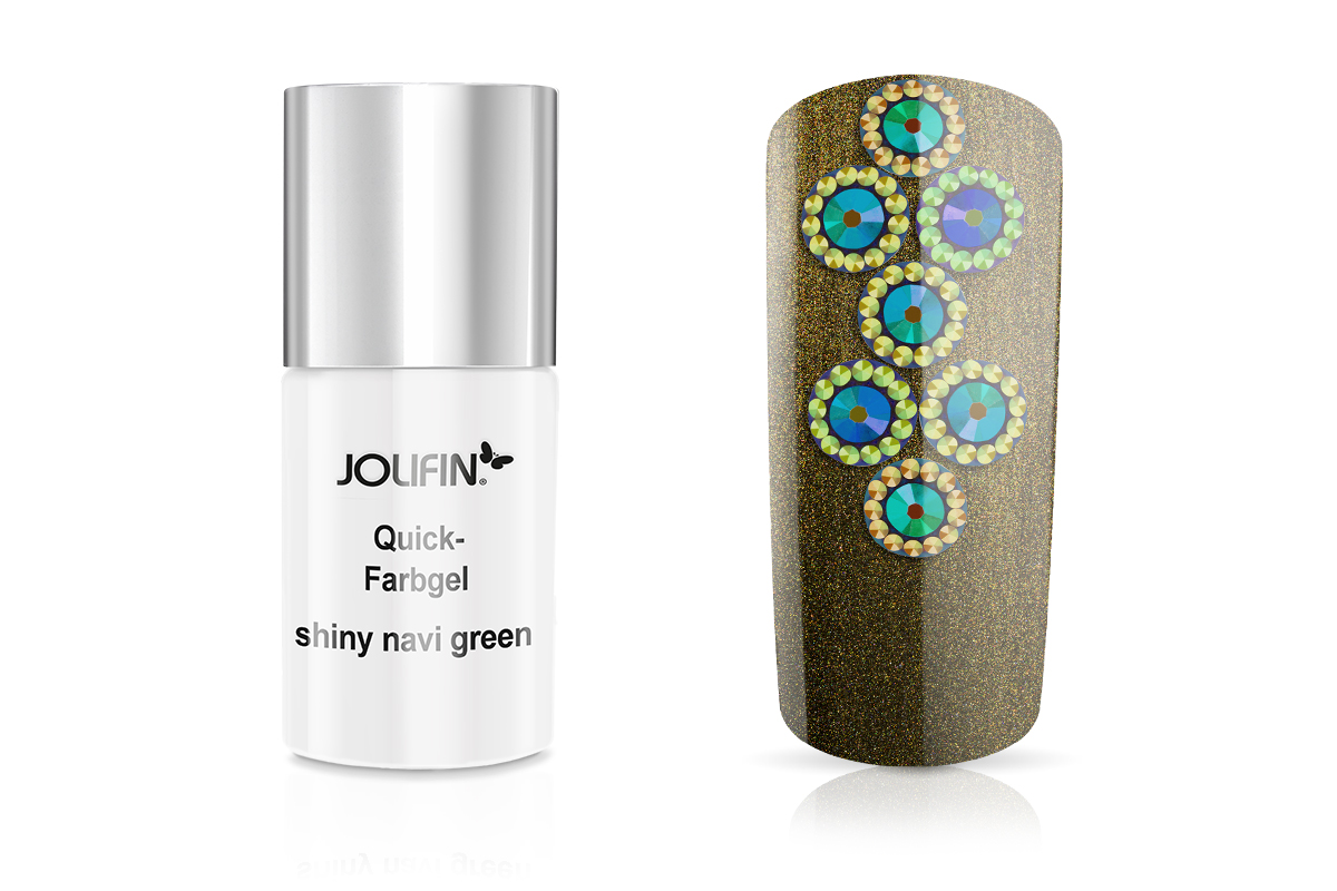 Jolifin Quick-Farbgel shiny navy green 11ml