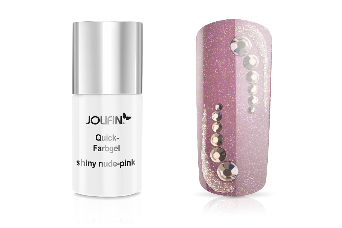 Jolifin Carbon Quick-Farbgel shiny nude-pink 11ml