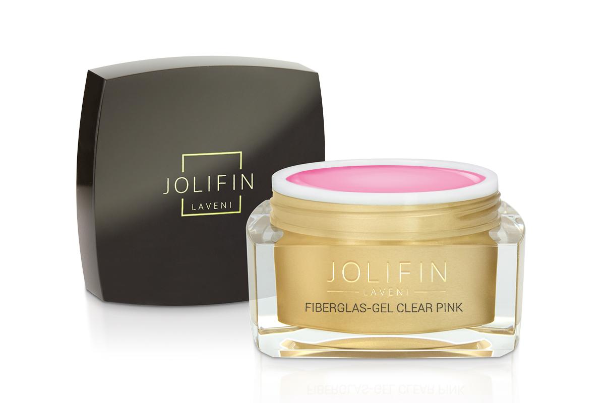 Jolifin LAVENI - Fiberglas-Gel clear pink 30ml