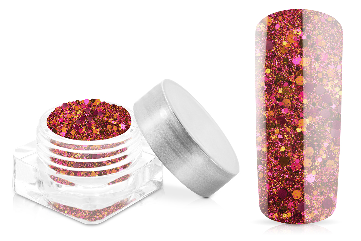 Jolifin Hexagon Glittermix bronze-pink