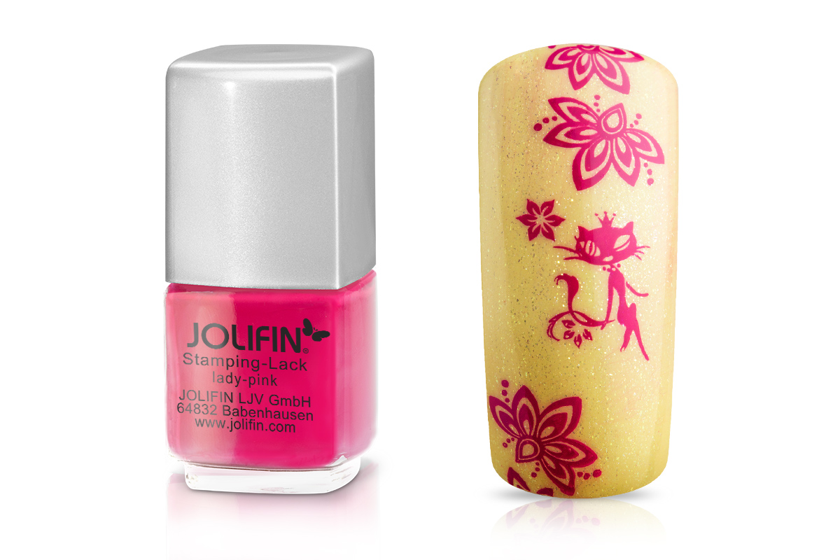 Jolifin Stamping-Lack - lady pink 12ml