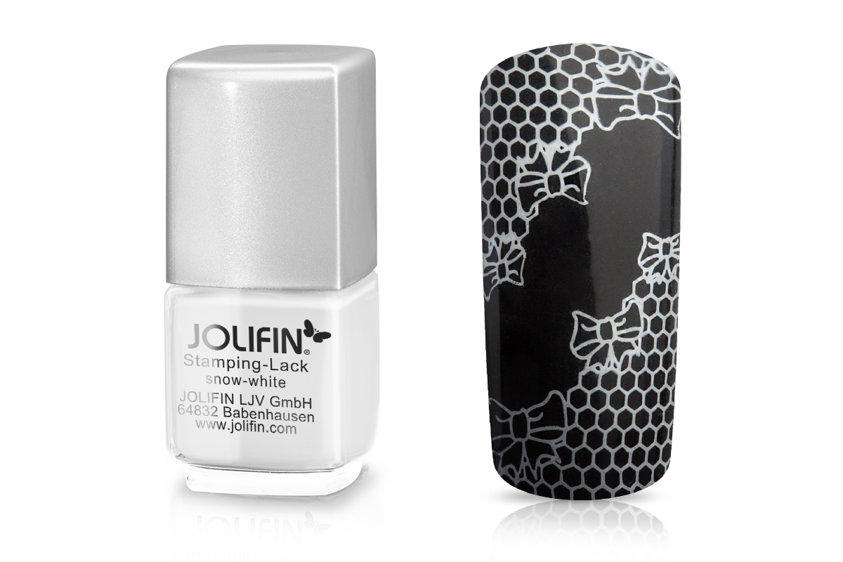 Jolifin Stamping-Lack - snow-white 12ml