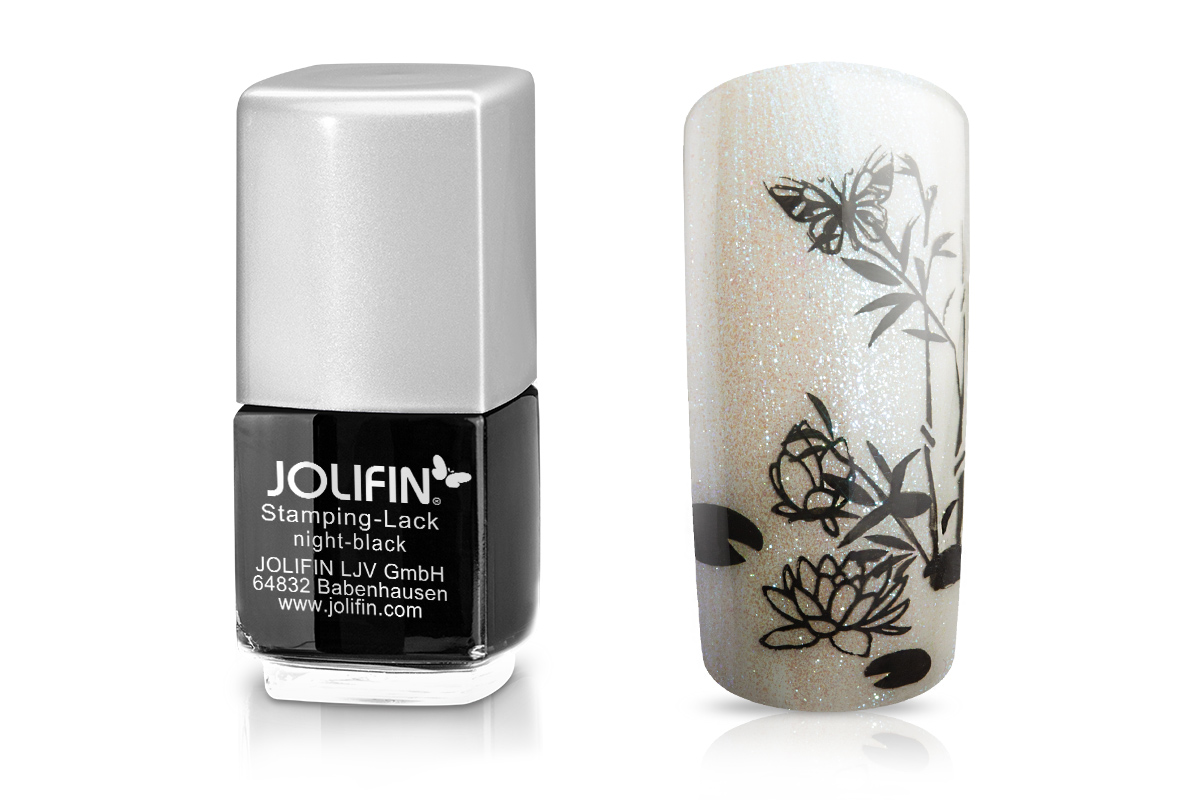 Jolifin Stamping-Lack - night-black 12ml