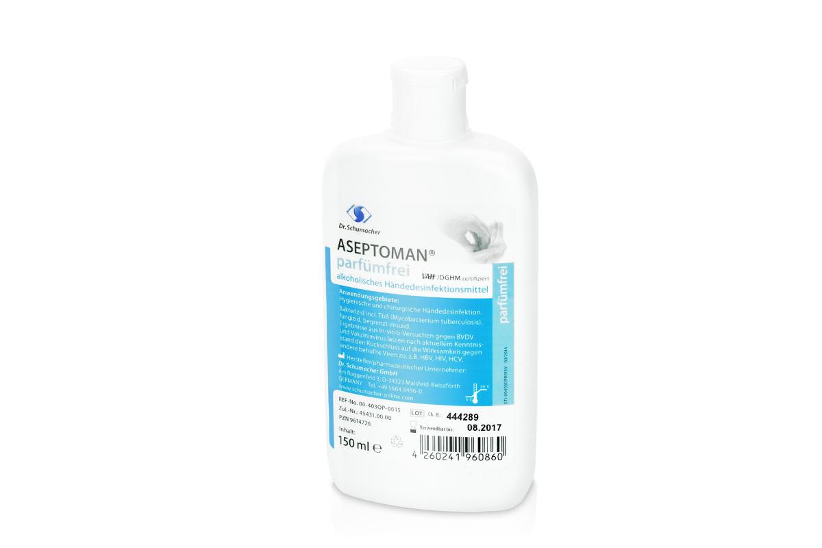 Aseptoman parfümfrei (Handdesinfektion 150ml)