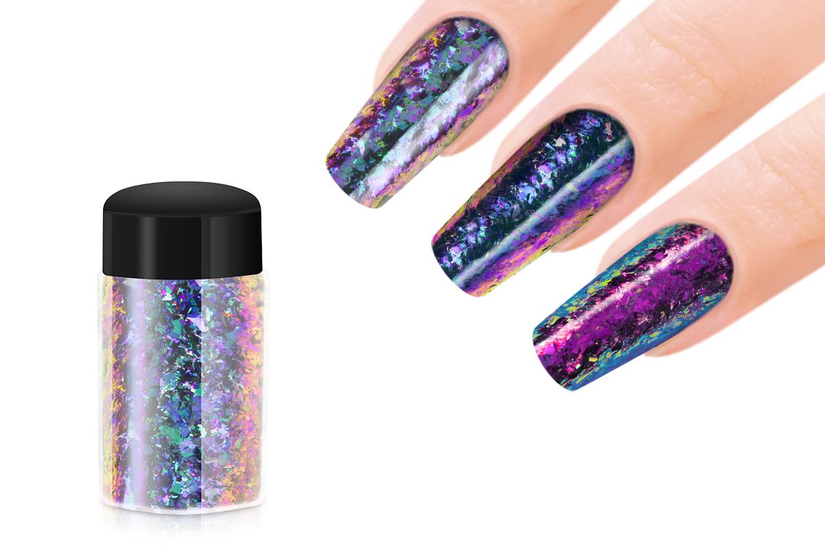 Jolifin Mirror-Chrome Flakes - FlipFlop türkis & violet