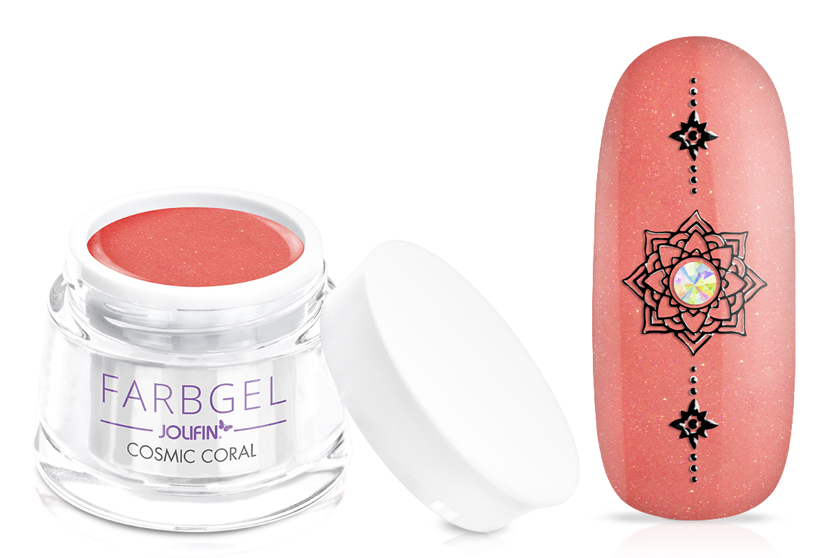 Jolifin Farbgel cosmic coral 5ml
