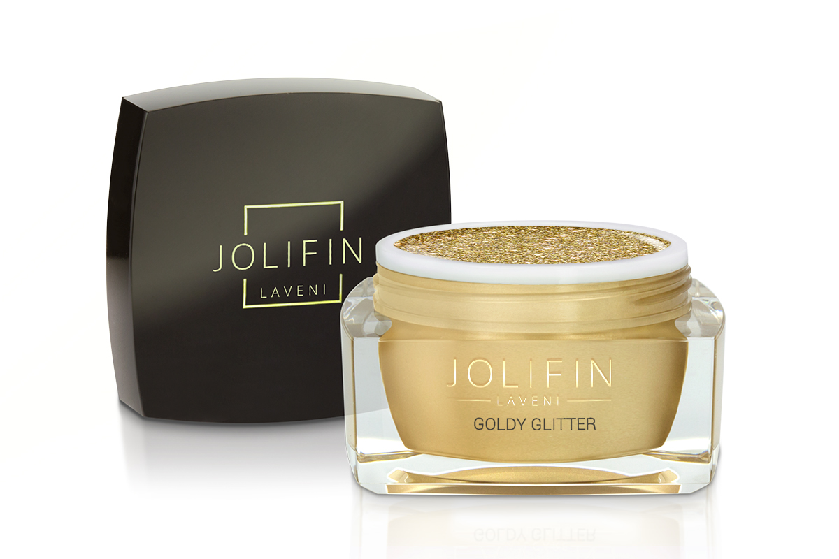 Jolifin LAVENI Farbgel - goldy Glitter 5ml