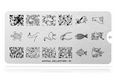 MoYou-London Schablone Animal Collection 01