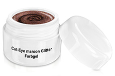 Farbgel Cat-Eye maroon Glitter 5ml
