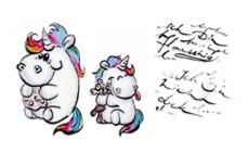 Pummeleinhorn Tattoo Nr. 1