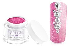 Jolifin Farbgel girly pink Glitter 5ml
