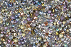Jolifin LAVENI Luxury Pearls - multicolor silver