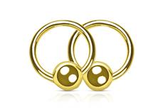 Jolifin Nagel-Piercing gold
