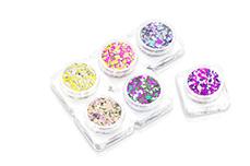 PNS24 Glitter Set - Chrome Pailletten