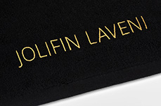 Jolifin LAVENI Handtuch - schwarz