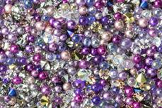 Jolifin LAVENI Luxury Pearls - multicolor berry