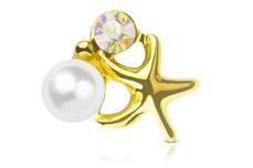 Jolifin Overlay - Seestern Perle gold