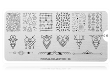 MoYou-London Schablone Minimal Collection 06