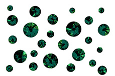 Jolifin LAVENI Strass-Display - emerald