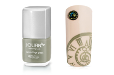 Jolifin Stamping-Lack - camouflage green 12ml