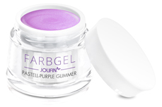 Jolifin Farbgel pastell-purple Glimmer 5ml