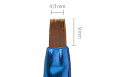 Jolifin Unicorn Gel-Pinsel blue - gerade Gr. 4