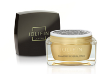Jolifin LAVENI Farbgel - diamond silver Glitter 5ml
